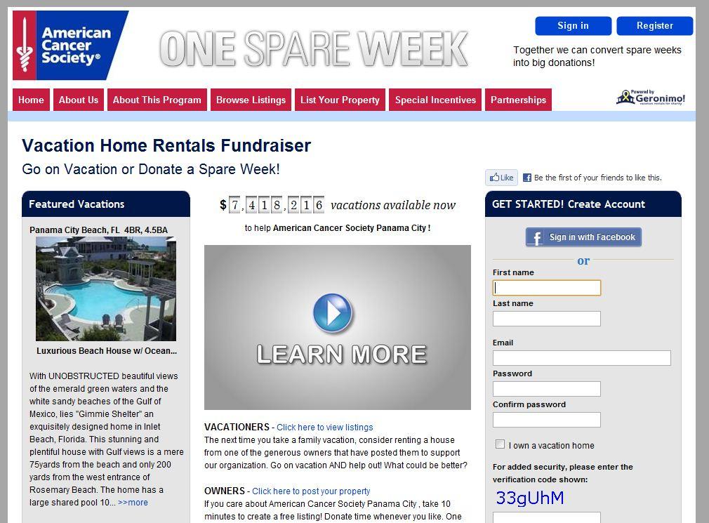 American Cancer Society Fundraiser in Panama City Beach Florida