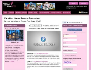 Susan G. Komen for the Cure | Vacation Home Fundraiser